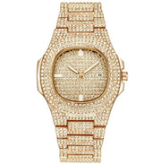 Ice Out Luxury Gold Plated Watch