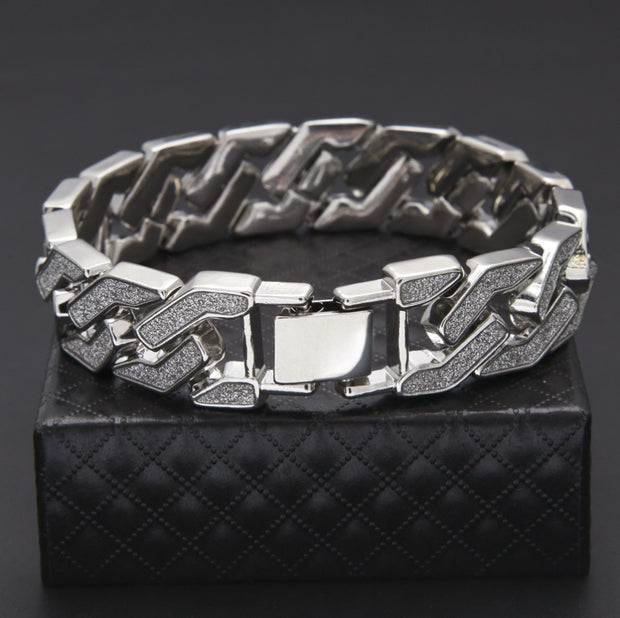 16mm Sandblast Miami Cuban Bracelet