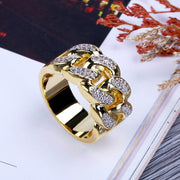 Iced Out Micro Pave Gold Ring