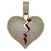 Broken Hearted Pendant Necklace