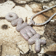 Custom Letters Pendant with Rope Chain