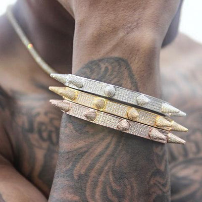 Iced out Spiked Bracelet