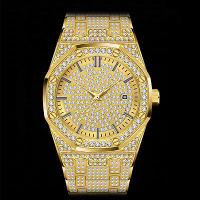 18K Gold Plated Luxury Men's Watch