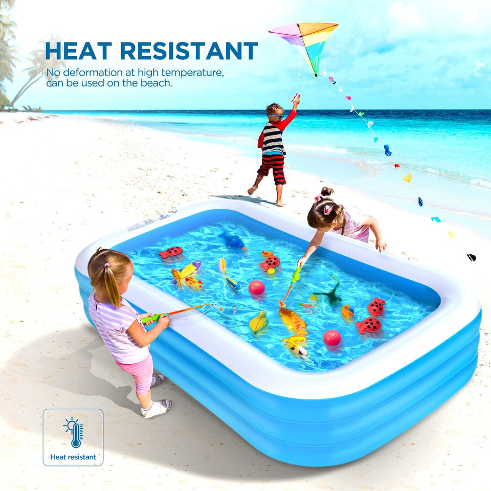 TrekPow Inflatable Swimming Pool Blue