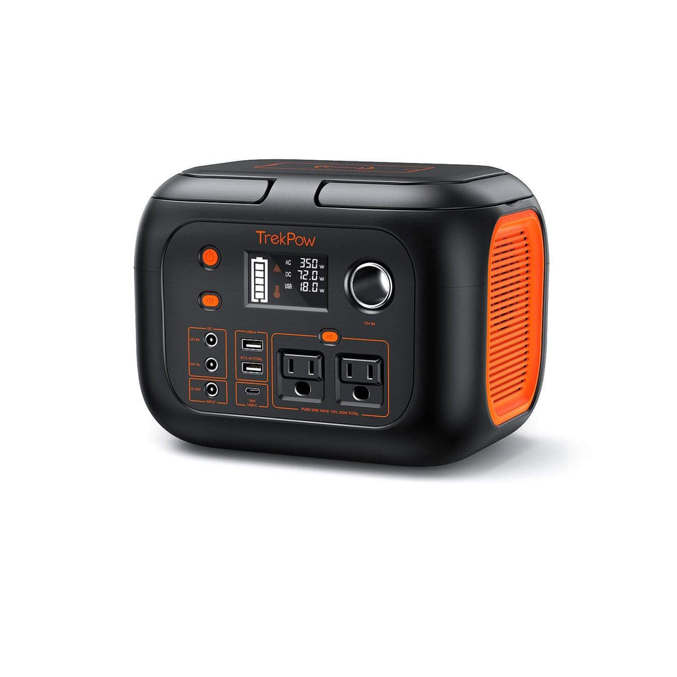 TrekPow 350W Portable Power Station, 296WH 80000mAh Solar Generator