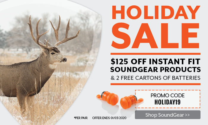 Holiday Sale - $125 off Instant Fit SoundGear Products + 1 FREE Carton of Batteries. USE PROMO CODE: HOLIDAY19