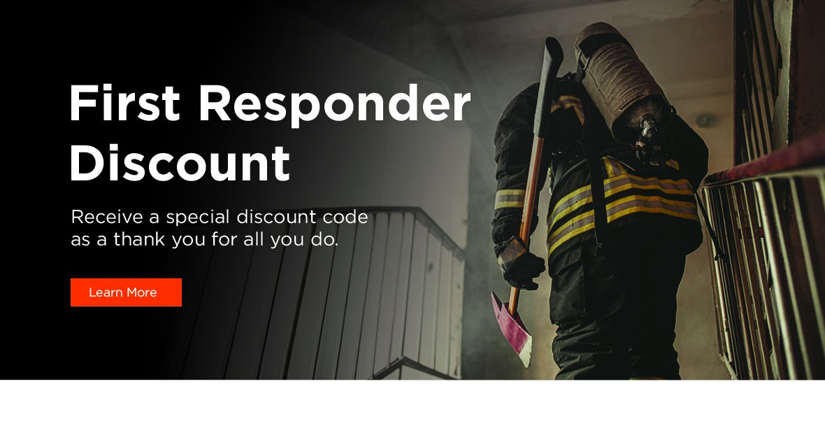 Military Discounts. Receive a special discount code as a thank you for your service. Learn more