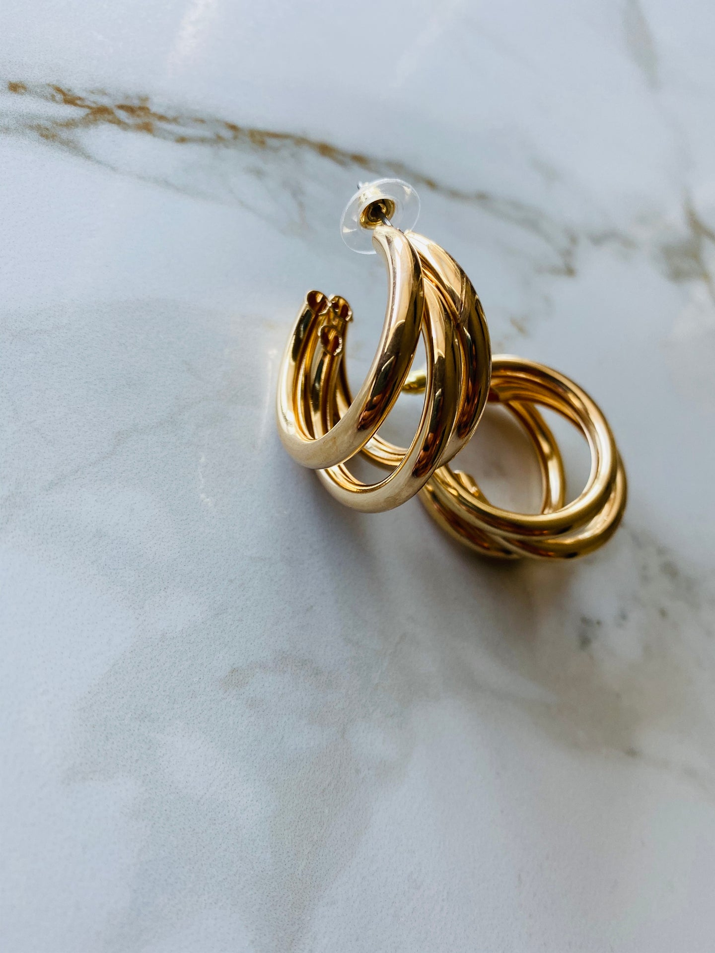 TRIO HOOPS - GOLD