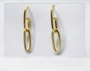 THE LINKED EARRING GOLD PLATED