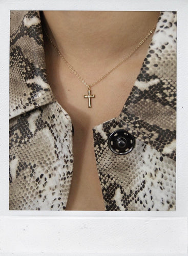 THE CROSS CHAIN GOLD PLATED