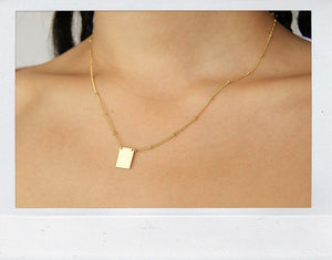 THE PENDANT CHAIN GOLD PLATED