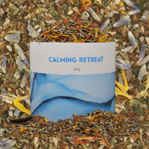Calming Retreat tea blend with Anise. Anise in tea. Star anise in tea.