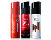 Bullet, Red Zx & Once More Deo Body Spray (Pack of 3) - 40 ml each