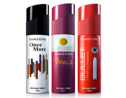 Once More, La Opale & Bullet Deo Body Spray (Pack of 3) - 40 ml each