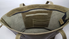 Load image into Gallery viewer, Olive Green Leather Tote