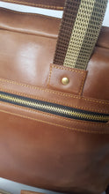 Load image into Gallery viewer, Dark Brown Leather Laptop Briefcase