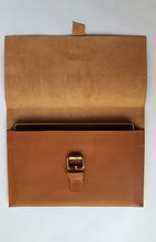 Load image into Gallery viewer, Tan Soft Leather Clutch