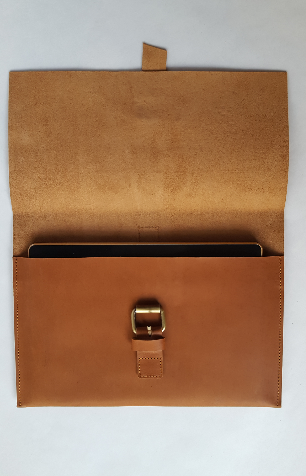 Tan Soft Leather Clutch