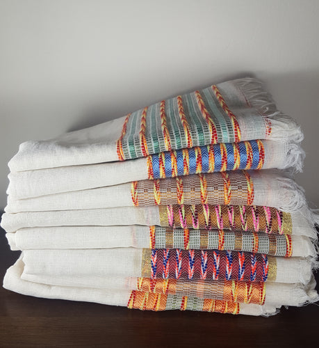 Assorted Handwoven Cotton Scarves