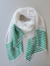 Load image into Gallery viewer, Handwoven Cotton Scarf - Summer Collection (Teal, Red, Yellow)