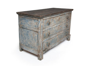 19TH CENTURY FRENCH BLUE CHEST