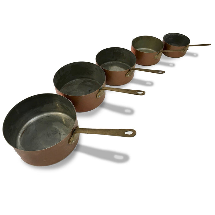 5 FRENCH COPPER POTS