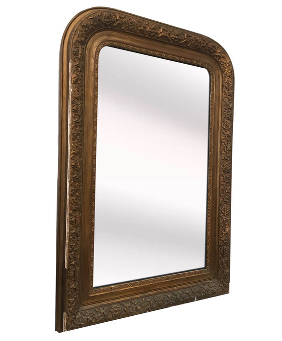 ANTIQUE ARCHED GOLD MIRROR