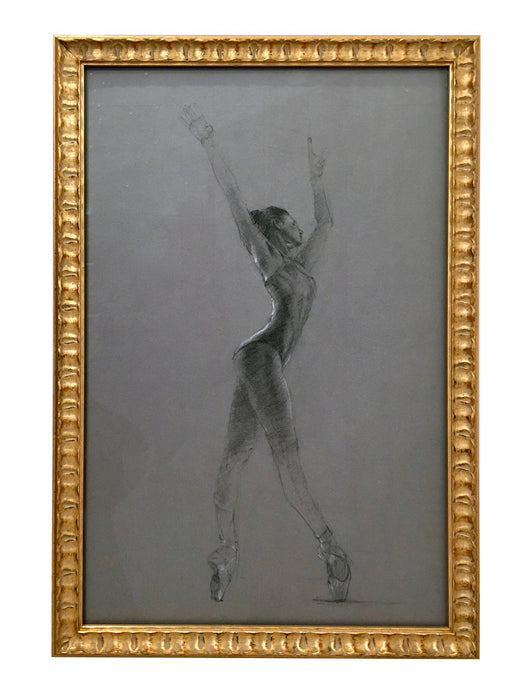 BALLERINA SKETCH FRAMED IN GOLD