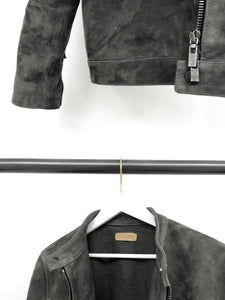 CHARCOAL LEATHER JACKET