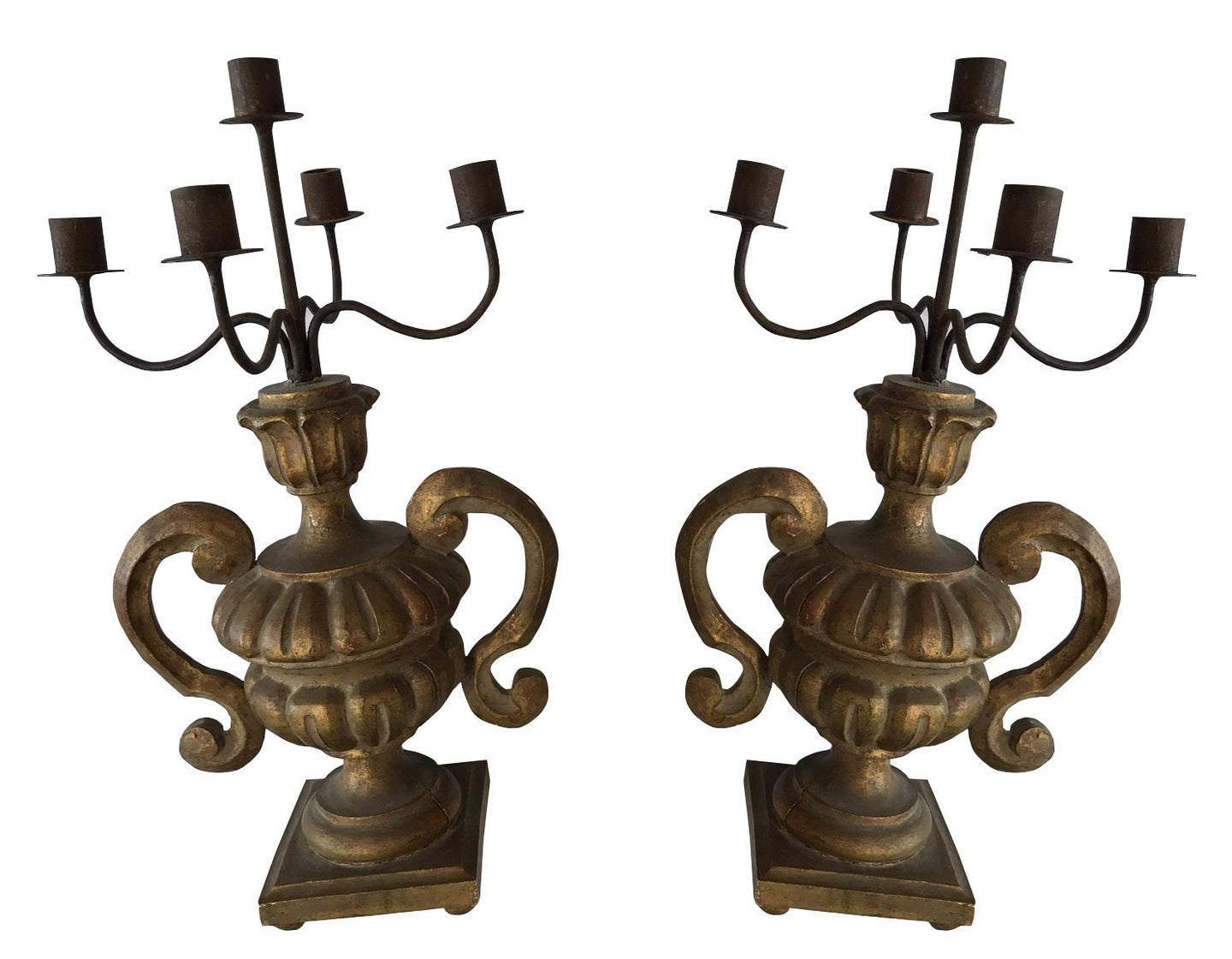 PAIR OF ITALIAN CANDELABRAS