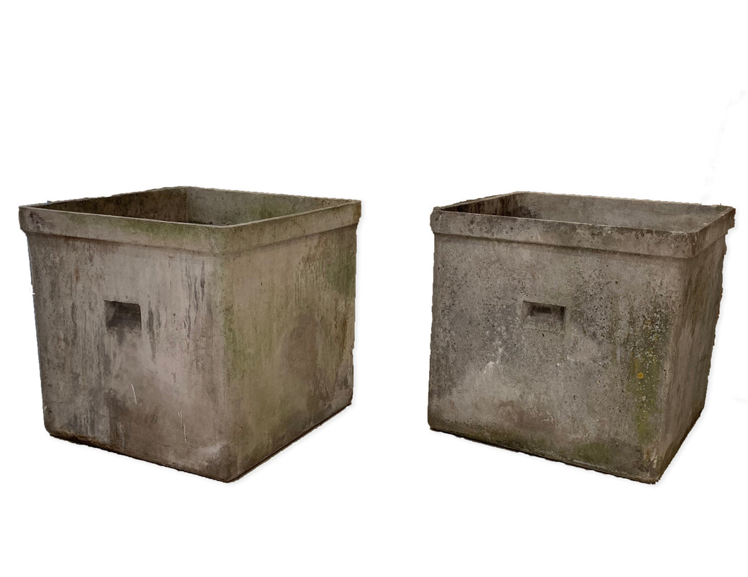 PAIR OF CEMENT PLANTERS