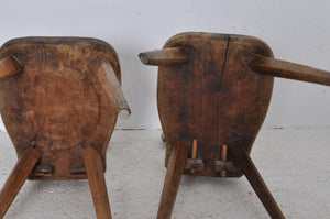 2 PRIMITIVE CHAIRS