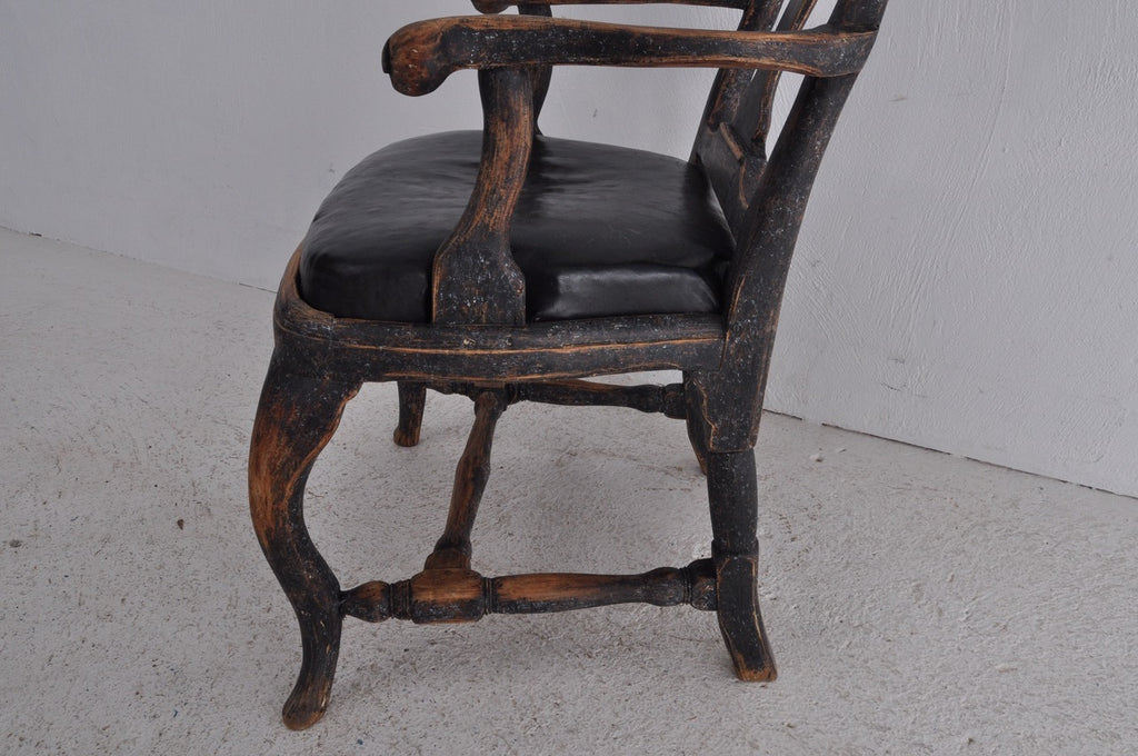 BLACK ROCOCO ARMCHAIR *ON HOLD*