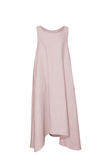 Blush Linen Sleeveless Dress