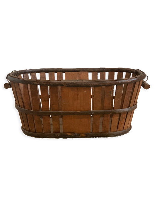 WOOD FRENCH APPLE BASKET