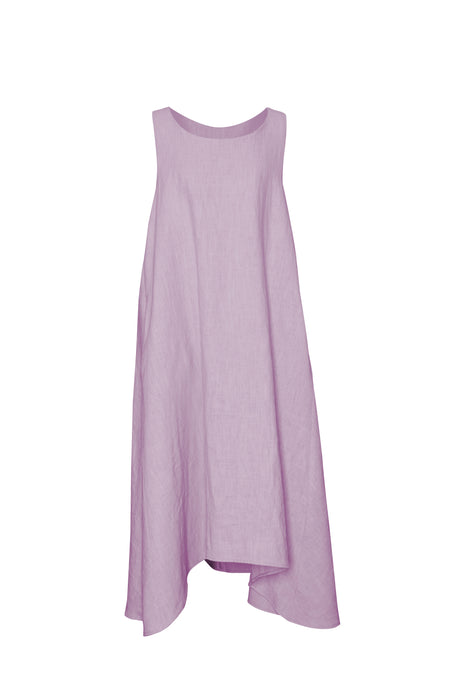 Lavender Linen Sleeveless Dress