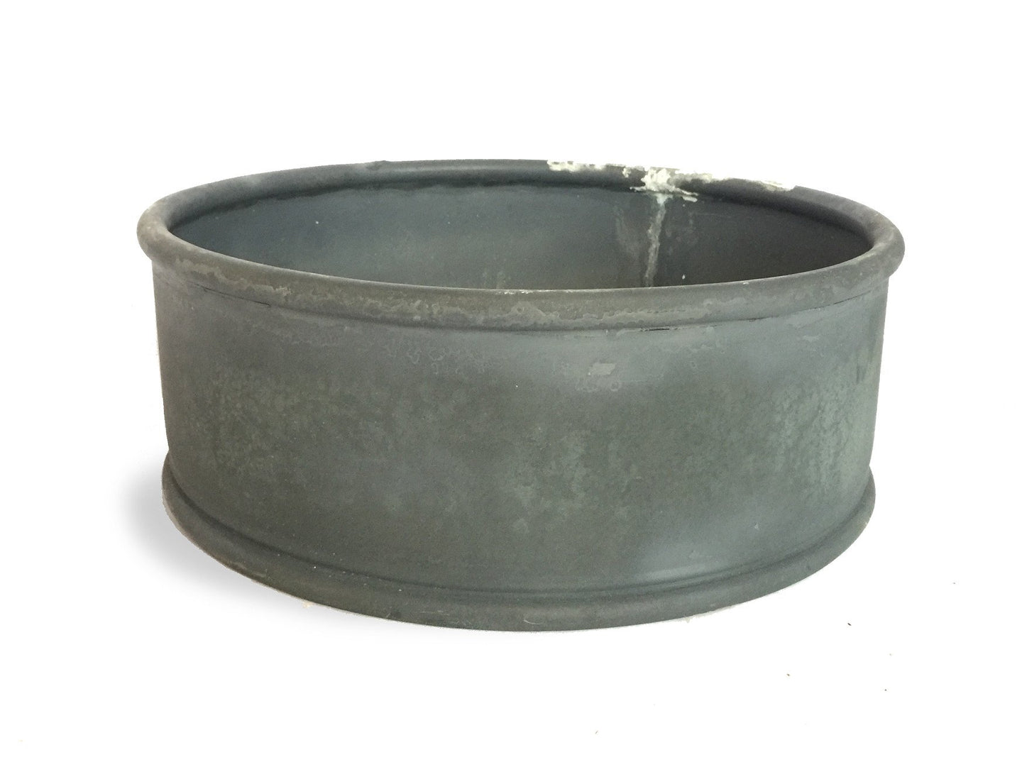 LOW ROUND ZINC CONTAINER