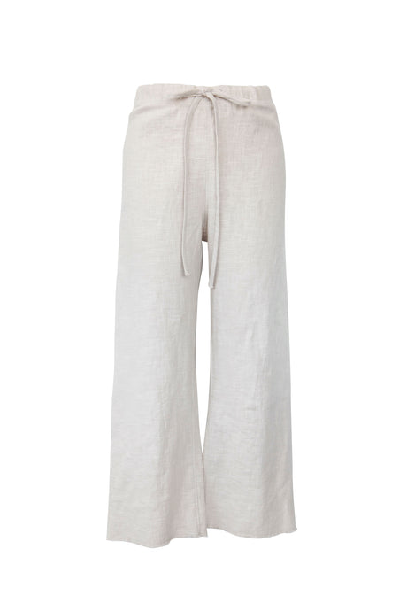 Natural Raw Edge Linen Pant