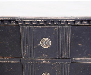 PAIR OF BLACK CHESTS