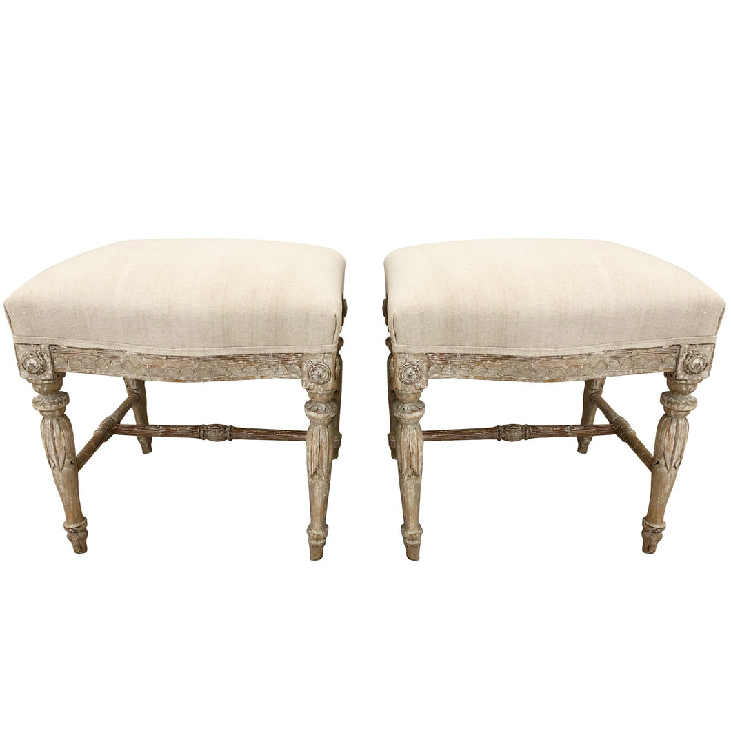 PAIR OF ANTIQUE STOOLS