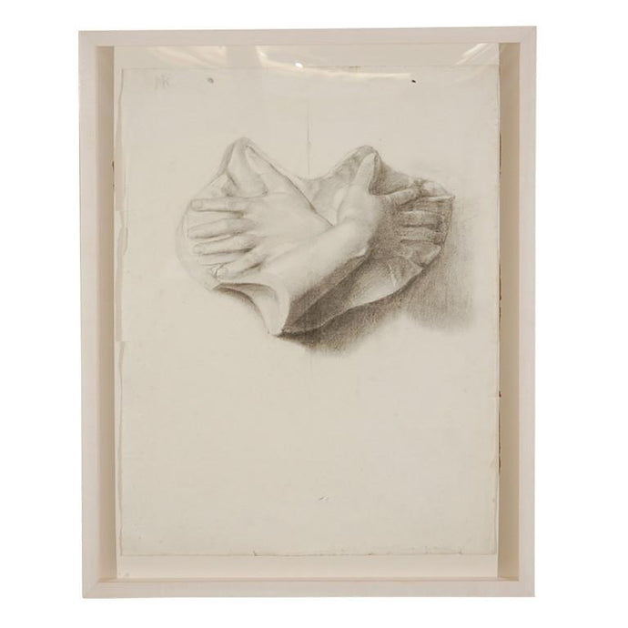 FRAMED PENCIL SKETCH FROM THE BEAUX ARTS SCHOOL