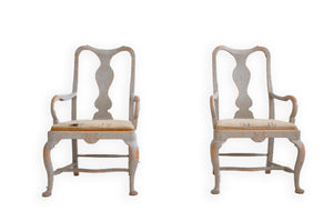 PAIR OF ROCOCO ARM CHAIRS