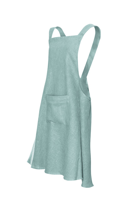 Sea Foam Linen Apron