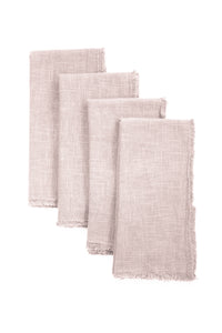 GIANNETTI BLUSH LINEN NAPKINS (SET OF 4)