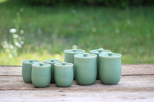 CERAMIC TALL LIDDED JARS