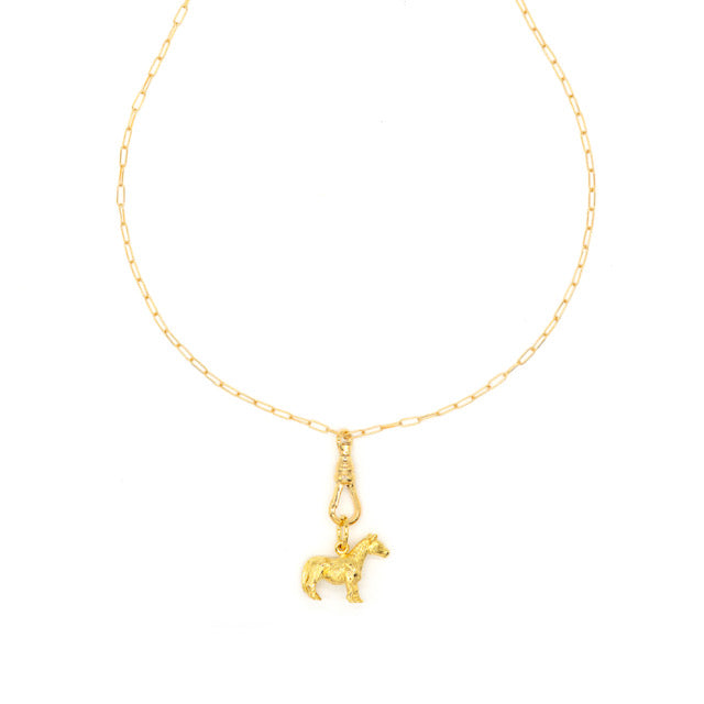 "Donkey Charm Necklace with 18"" Extension"