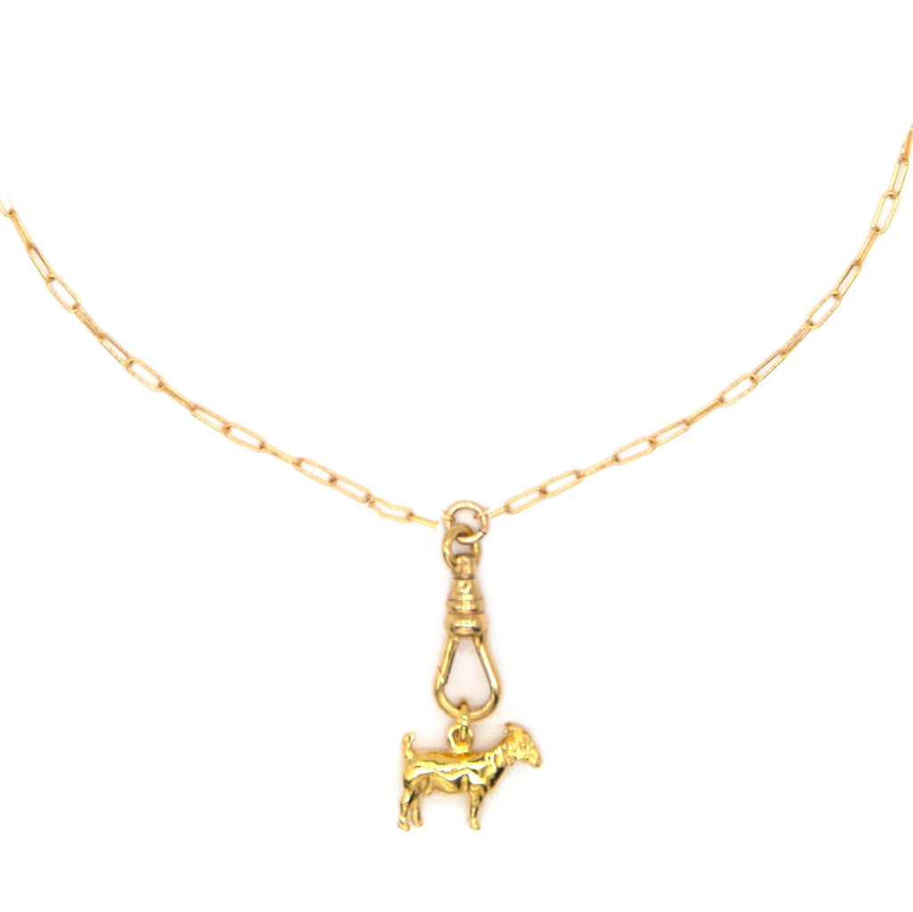 Goat Charm Necklace