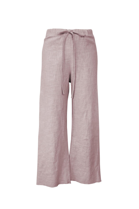Blush Raw Edge Linen Pant
