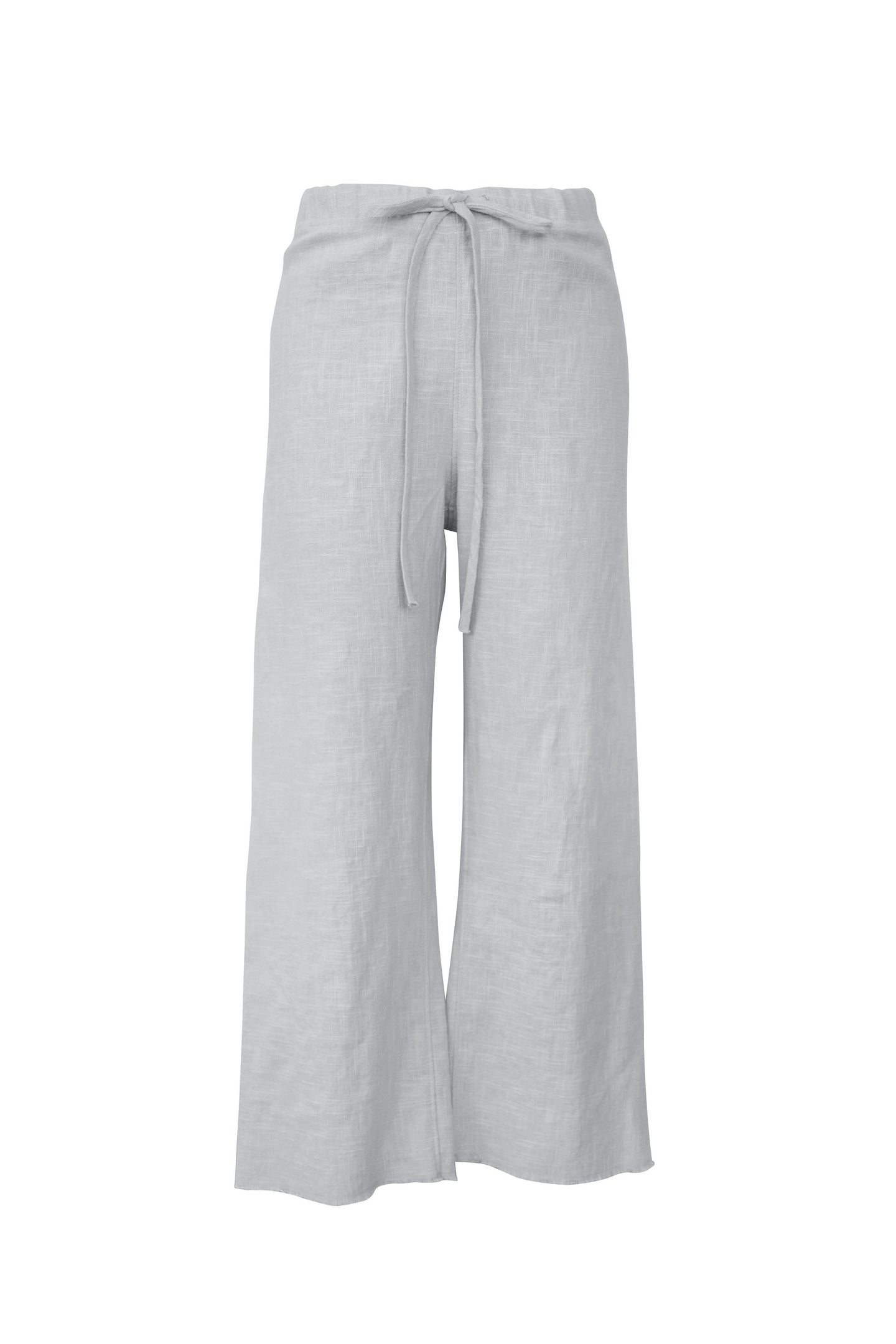 Silver Raw Edge Linen Pant