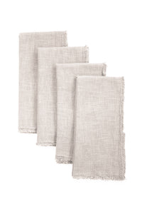 GIANNETTI NATURAL LINEN NAPKINS (SET OF 4)